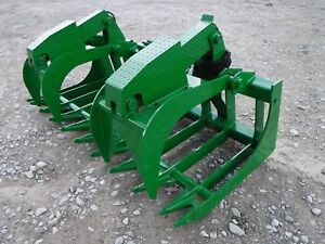 John Deere Tractor Attachment 80 Severe Duty Root Grapple Bucket Ship 199