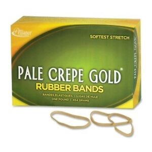Pale Crepe Gold Rubber Bands Size 32 3 X 1 8 1lb Box Sold As 1 Box