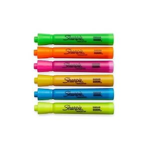 3 X Sharpie Accent Tank style Highlighters 6 Colored Highlighters