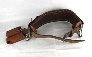 Bashlin 472s Size D23 Leather Tree Climbing Belt Saddle Arborist Back Harness