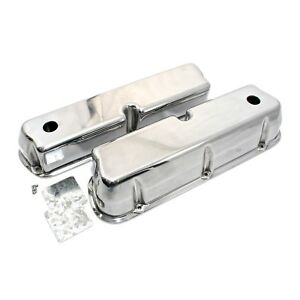 Polished Aluminum Valve Covers Tall Small Block Ford Sbf 289 302 351w 5 0