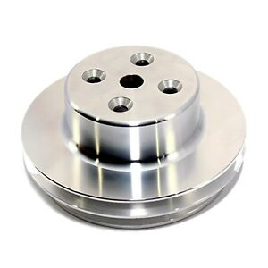 Water Pump Pulley 2v Aluminum Long 396 454 Bbc Chevy
