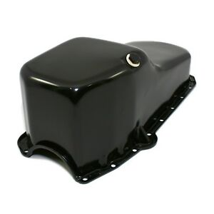 Stock Capacity Oil Pan Black Painted 58 79 Sbc Small Block Chevy 327 350 400