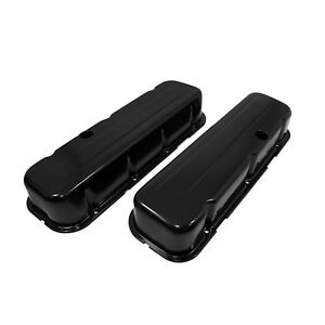 Tall Style Black Steel Valve Covers Big Block Chevy 454 Bbc 396 402 427
