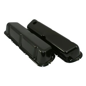 Black Steel Valve Covers New 5 0l 302 Factory Style 86 95 Ford 5 0 Mustang