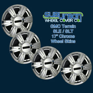 2014 2017 Gmc Terrain Sle Slt 17 Chrome Wheel Skins Hubcaps 7564p c Set 4