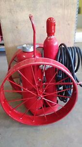 Ansul 150 Lb Wheeled Unit Fire Extinguisher Recertified 100 Foot Hose
