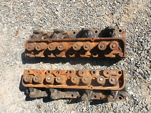 1968 Ford 390 C8ae H Cylinder Head Pair Core 8b19 Both Match Need Work For Gta