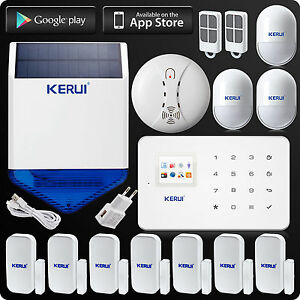 Home House Security Alarm System Kerui G18 Wireless Solar Power Siren Gsm Sms