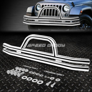 For 87 06 Jeep Wrangler Oe Style Chrome Stainless Steel Front Brush Grille Guard