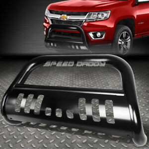 For 15 17 Colorado canyon Pickup Truck Black 3 bull Bar Push Bumper Grill Guard