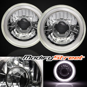 H6014 H6015 H6024 7 Round White 3d Smd Halo Glass Projector Headlights Lamps