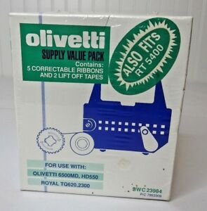 New Sealed Old Stock Olivetti 5 Correction Ribbons 2 Lift Off Tapes
