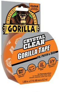 Gorilla Tape Crystal Clear Adhesive Heavy Duty 1 88 In X 9 Yds 6 Pack Waterproof