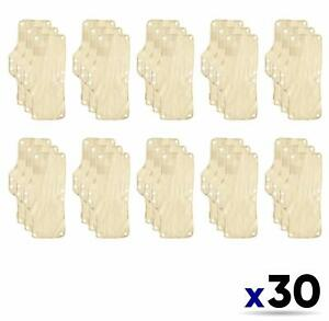 30 Pack Occunomix Terry Toppers Snap In Place Sweatband For Headgear Beige