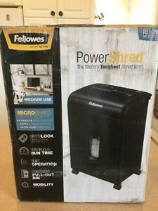 Fellowes Powershred 62mc 10 Sheet Micro cut Paper Shredder