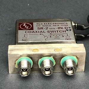 Rlc Electronics Sr 2 min in d 40 Coaxial Switch spdt Dc 40ghz Option 2 9mm Sma