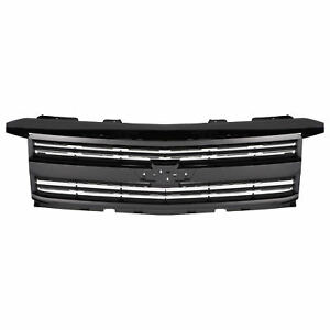 Oem Front Grille Gloss Black W Chrome 15 18 Silverado 2500 Hd 3500 Hd 23335302