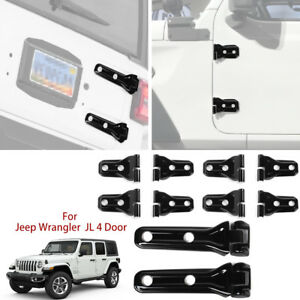 For 2018 Jeep Wrangler Jl Door Tailgate Hinge Covers Exterior Accessories 10pc