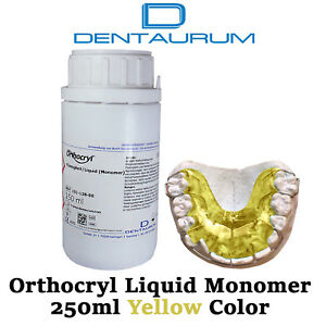 Dental Dentaurum Orthodontic Orthocryl Clear Acryl Resin Liquid 250ml Yellow