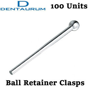 Dental Dentaurum Ball Retainer Clasps Orthodontic Tooth Hold Position 100pcs