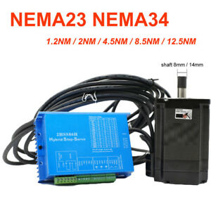 Nema 23 34 Closed Loop Stepper Motor 1 2nm 2nm 4 5nm 8 5nm 12 5nm Easy Servo Kit