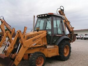 Case 580 Super L backhoe Loader Tractor 4x4 Cab Extendhoe Price Reduced