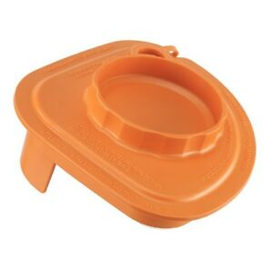 Rubber Splash Lid With Tethered Plug orange For Vitamix Commercial Advance