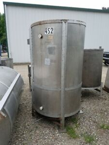Used 500 Gallon Vertical Stainless Steel Tank In Nj