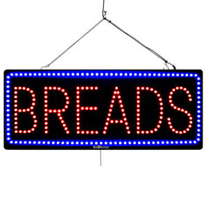 Large Led Open Sign Breads 13 x32 On off flashing Mode 3051
