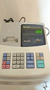 Sharp Electronic Cash Register Xe a102 With Instruction Manual With Keys
