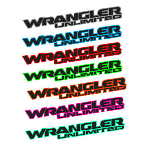 Wrangler Unlimited 2 Colors Hood Decal Vinyl Graphic Jeep Wrangler Unlimited