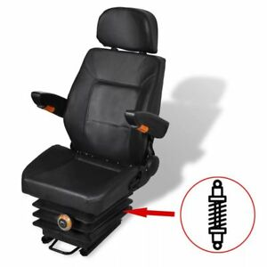 New Adjustable Tractor Seat Chair With Suspension Arm Armrest Waterproof Tractor