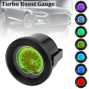 1pcs 12v 52mm 2 Car 35 Psi Pressure Vacuum Turbo Boost Gauge Meter Led 7 Color