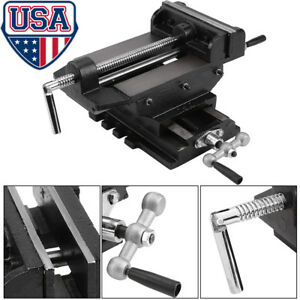6 Inches Cross Drill Press Vise Slide Metal Milling 2 Way X y Clamp Machine Us