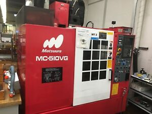 1997 Matsuura Mc 510vg High Speed Milling Machine Vmc Cnc Ref 7795658