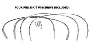 68 68 70 Dodge Charger Wheel Well Opening Moldings Trim Set Complete Mopar New