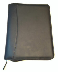 Franklin Planner Classic Black Leather Binder Zip Around 22669 460