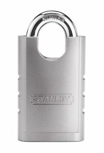Stanley Hardware S828 160 Cd8820 Shrouded Hardened Steel Padlock 60mm Width New