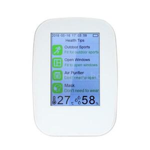 Air Quality Detector Hcho Tvoc Test Co2 Monitor Temperature Humidity Meter Y7i3