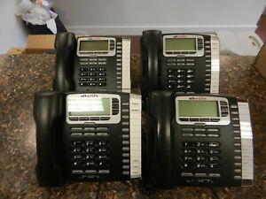 Lot Of 4 Allworx 9212 Voip Phones With Handsets And Stands