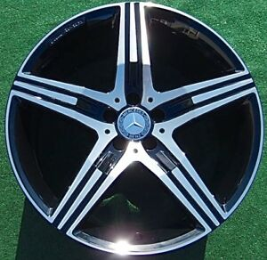 4 Perfect Black Genuine Oem Factory Amg Mercedes Benz S63 S65 Forged Wheels S550