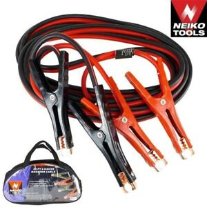 20 Ft 4 Gauge Booster Cable Jumper Cables Emergency Automotive Tool