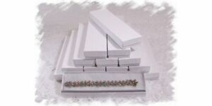 100 White Cotton Filled Jewelry Gift Box 8 X 2 X 1 h Watch Bracelet Holder
