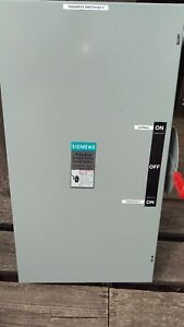 Siemens 200 Amp 600 Volt Heavy Duty 3 Pole Transfer Switch Double Throw Indoor
