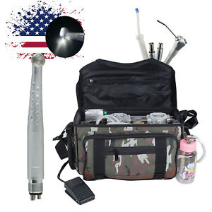 Portable Dental Turbine Unit Air Compressor Suction System Syringe Led Handpiece