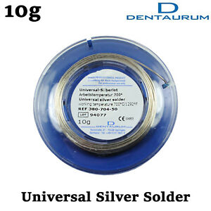 Dental Lab Orthodontic Dentaurum Silver Solder Roll For Bands Soldering 10gr