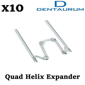 Dental Orthodontic Dentaurum Quad Helix Jaw Expander Cross Bite Treatment 10pcs