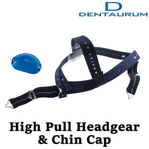 Dental Orthodontic Dentaurum High Pull Headgear With Rigid Chin Cap