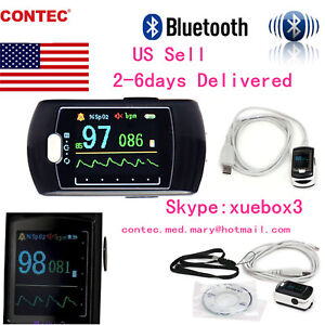 Rechargeable Finger Pulse Oximeter Blood Oxygen Monitor Spo2 Bluetooth Wireless